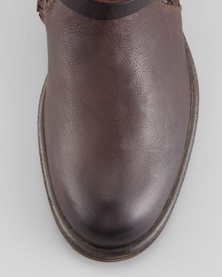 Woven Flat Knee Boot