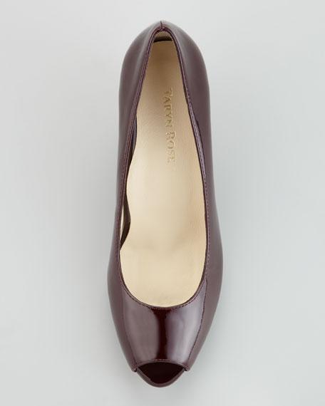 Kimberly Patent Leather Peep-Toe Wedge