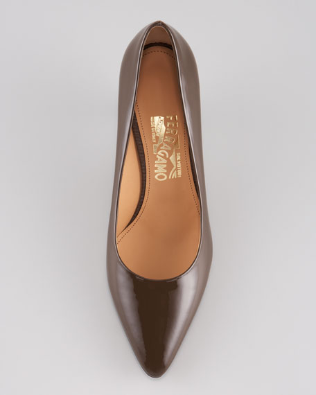 Tanna Patent Leather Mid-Heel Pump