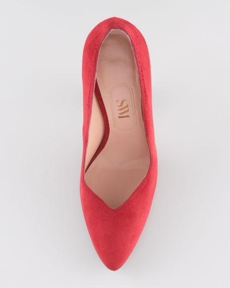 High-Heel Pump, Scarlet