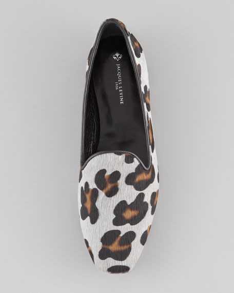 Brynn Printed Calf Hair Smoking Shoe