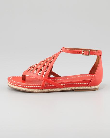 Kara Woven Ankle-Strap Sandal