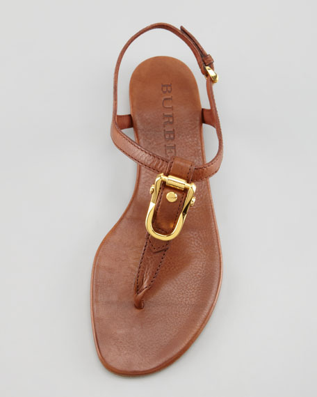 Buckle Slingback Thong Sandal