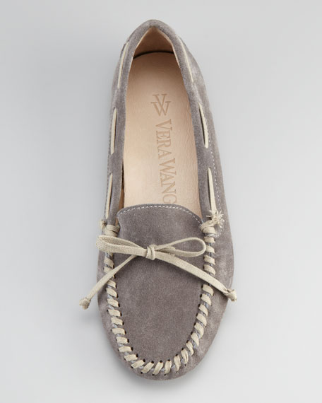 Dorian Suede Driving Moccasin, Gray