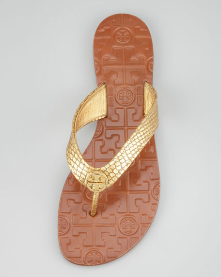 Thora2 Metallic Thong Sandal