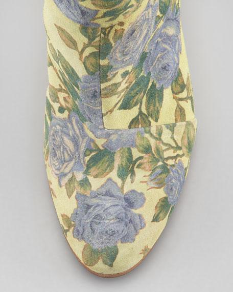 Classic Newbury Floral Bootie