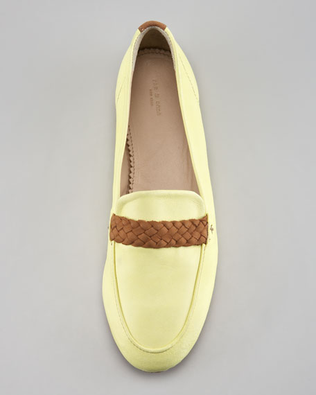Saville Braided Loafer, Canary