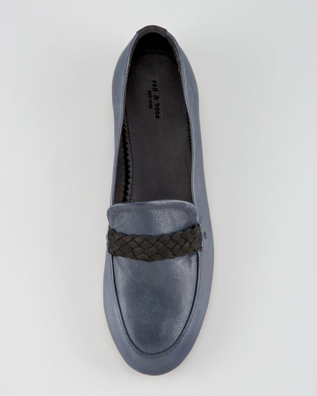Saville Braided Loafer, Navy