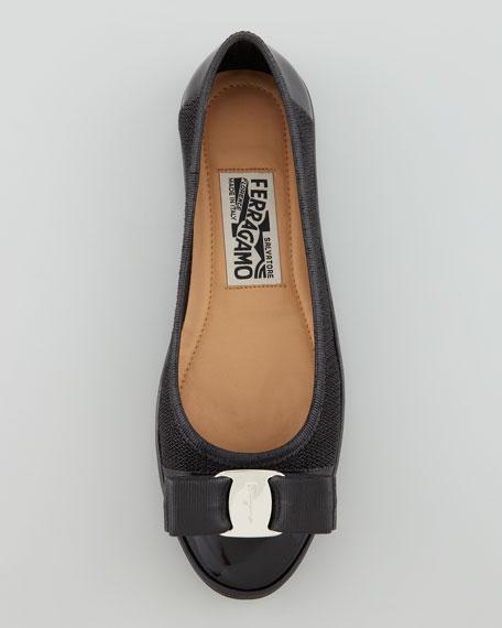 Scarlet Ballerina Flat Sneaker, Black