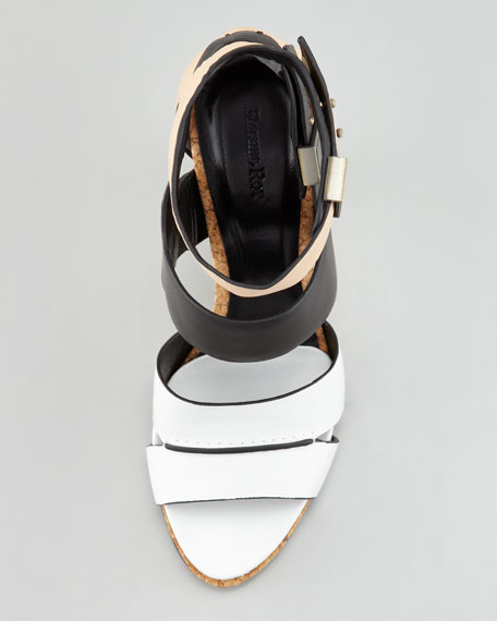 Fawn Colorblock Leather Sandal
