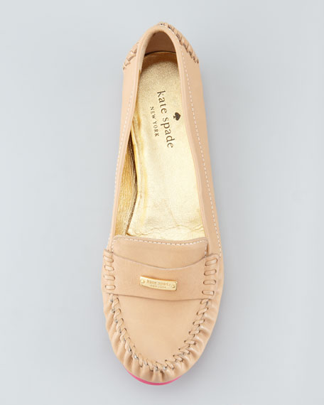weekend rubber-bottom loafer, natural/pink