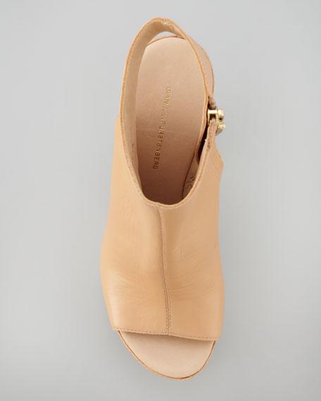 Rhoda Platform Sandal Bootie, Light Natural