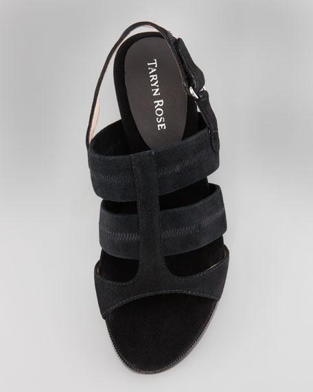Shirley Stretchy Slingback Sandal, Black