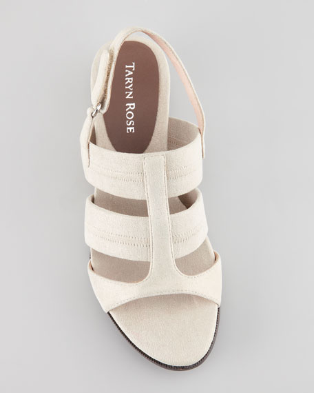 Shirley Stretchy Slingback Sandal, Taupe