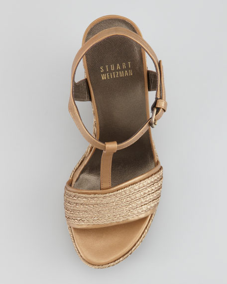 Matey Braided Raffia Wedge Sandal