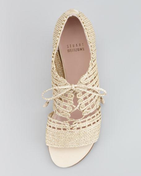 String It Twine-Tie Sandal, Neutral