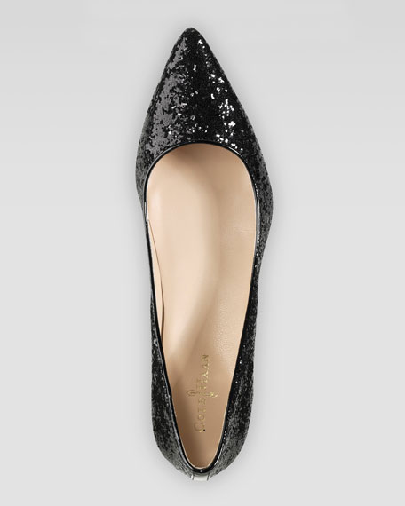Air Juliana Glitter Pump, Black