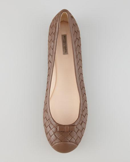 fd03d735bd0 Bottega Veneta Woven Leather Ballerina Flat