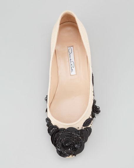 Petalina Embroidered Ballerina Flat