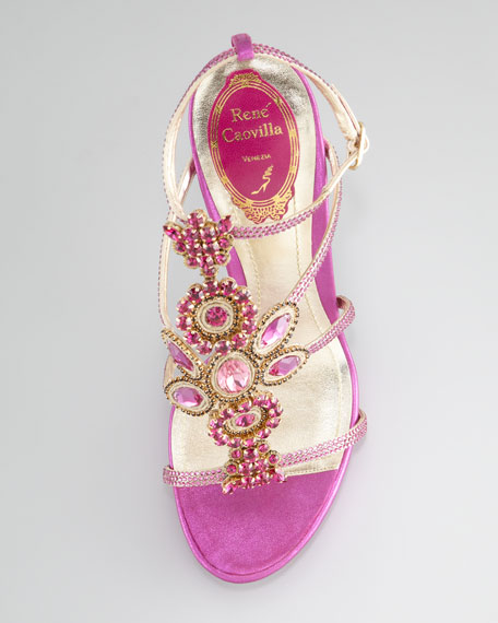 Crystal-Beaded Sandal