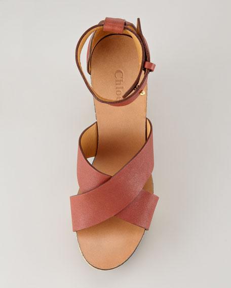 Crisscross Cork Platform Sandal