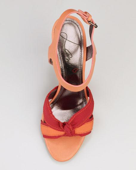Grosgrain-Trimmed Sandal