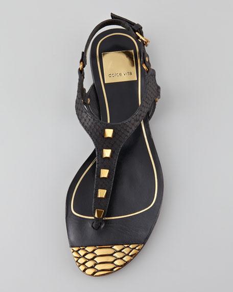 Indira Snake-Embossed Sandal