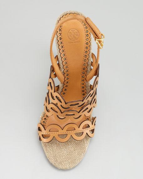 Ginny Cutout Slingback Sandal, Croissant