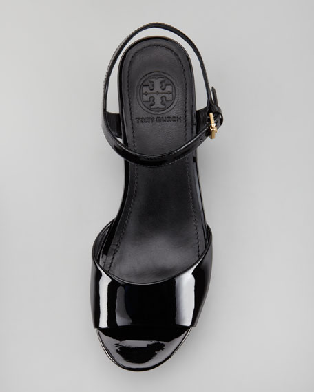 Abena Flatform Wedge Sandal, Black