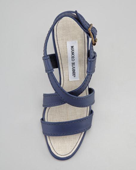 Yaldsan Crisscross Sandal, Navy