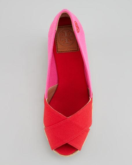 Tory Burch Filipa Colorblock Espadrille, Red/Pink