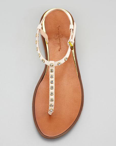 Myra Jewel Thong Sandal, Off White