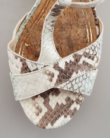 Dakota Snake-Embossed Sandal