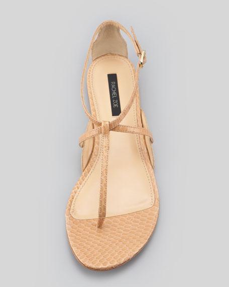 ab19037c4 Rachel Zoe Gwen Snakeskin Flat Sandal