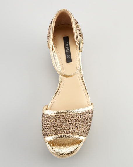 Abby Metallic Knit Sandal