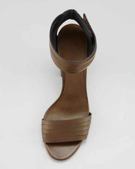 Lara Huarache Sandal, Olive