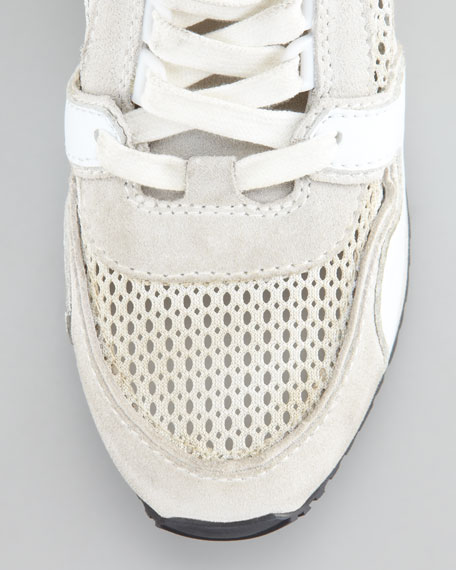 Dean Wedge Sneaker, White