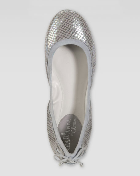 Air Bacara Backlace Ballet Flat, Rooftop Metallic Snake Print