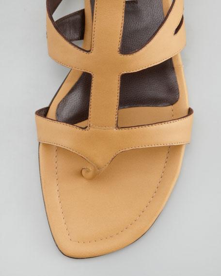 Eliza Flat Gladiator Sandal, Dune