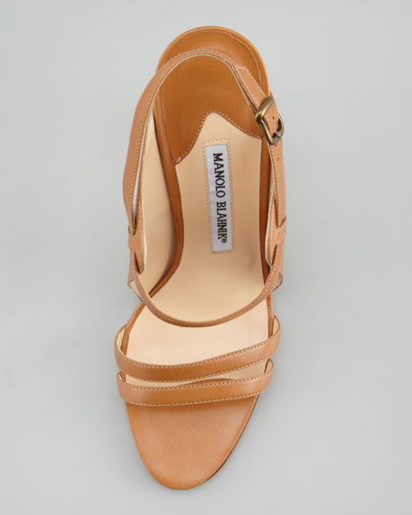 Dodo Double-Band Sandal, Caramel