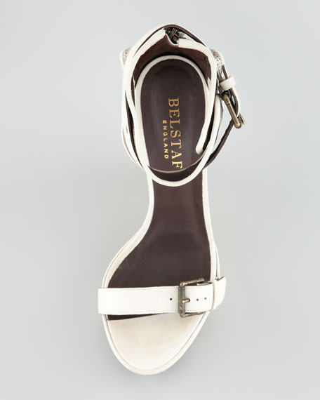 Snakeskin Wedge Sandal