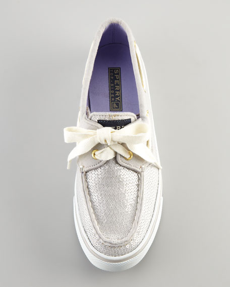 Bahama Sequins Slip-On Sneaker, Gray Jersey