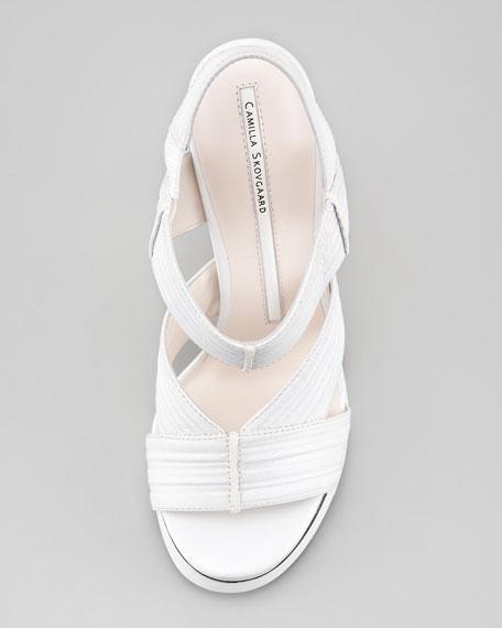 Hex Slingback Stiletto Sandal