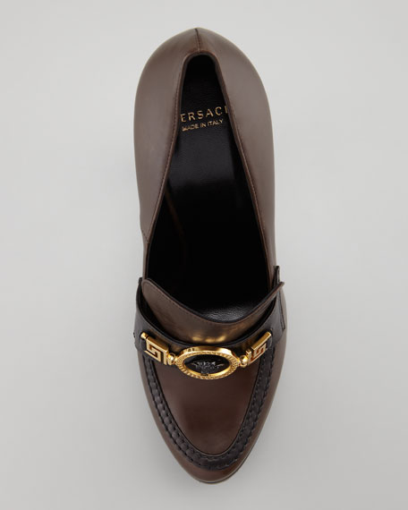 Loafer Pump, Brown/Black