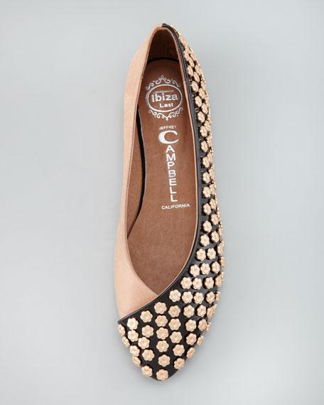 Jeffrey Campbell Daisy Studded Ballerina Flat