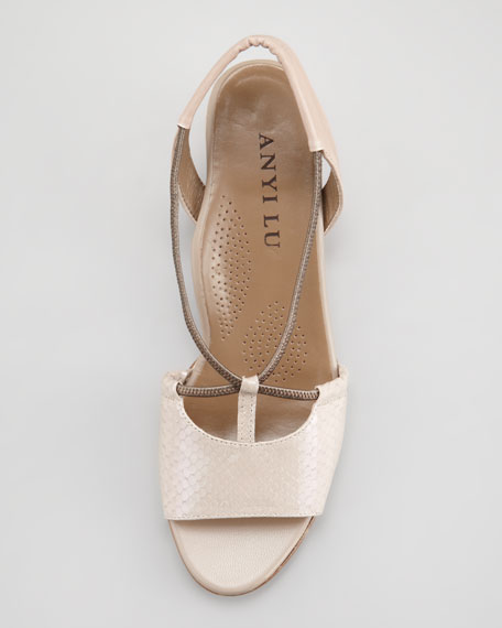 Linda Low-Wedge Slingback, Blush