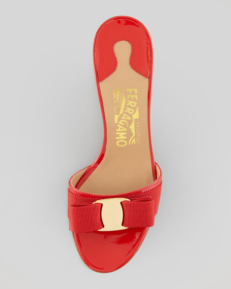 Glory Patent Bow Slide, Red