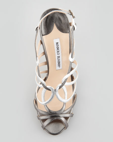 Porzio Metallic Leather Sandal