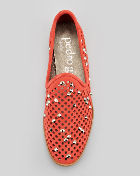 Yaden Perforated Crystal Smoking Slipper, Campari