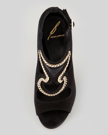 Lollita Chain-Trim Cutout Sandal
